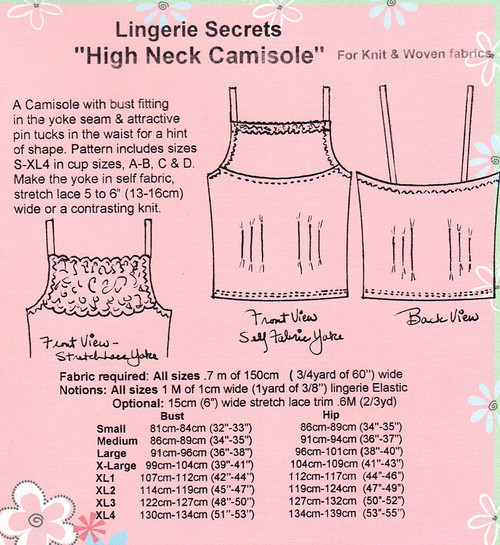 High Neck Camisole for Knits & Wovens - Lingerie Secrets