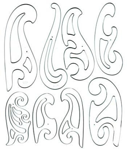 French Curve Set 8 pieces