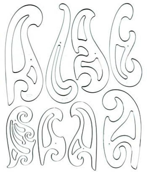 French Curve Set 8 pieces
