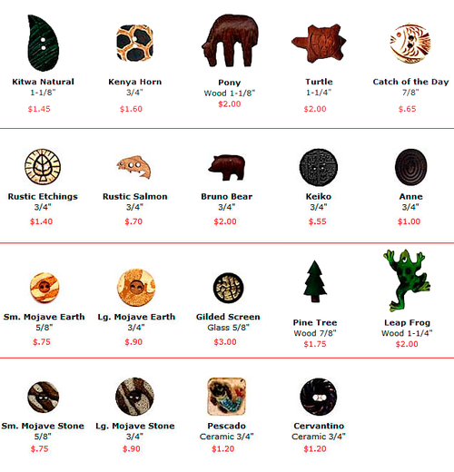 Buttons - Mixed Materials
