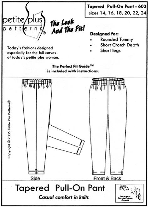 Tapered Pull-On Pant - Petite Plus