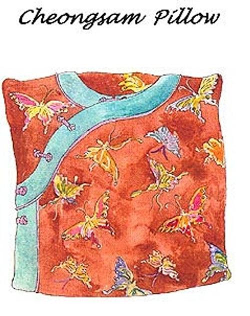 Cheongsam Pillow - Nancy Shriber