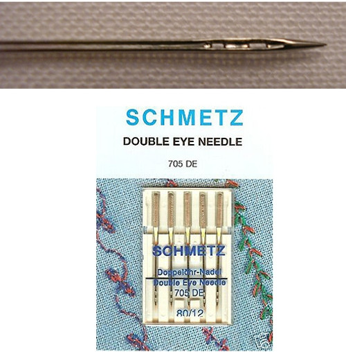 Schmetz Double Eye Machine Needle - 12/80 5pk