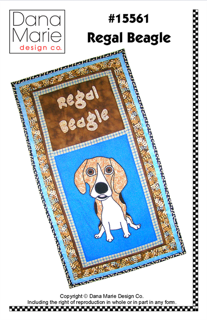Regal Beagle Wall Quilt