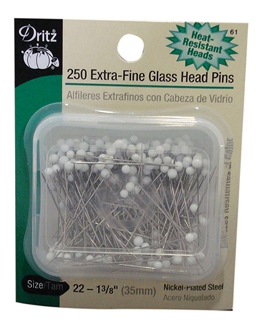 Extra Fine Glass Head Pins