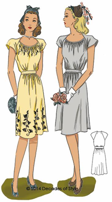 1940s Dorothy Lara Dress - Decades of Style