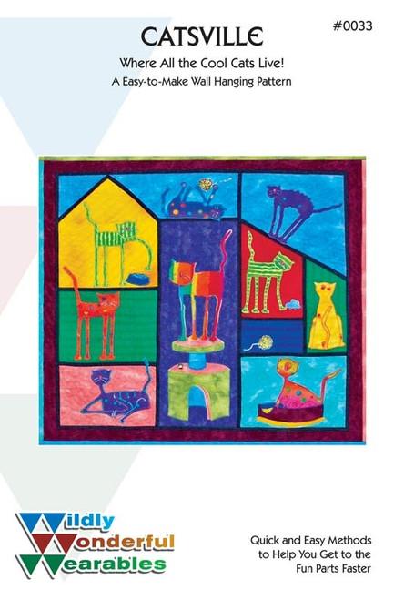 Catsville Wall Quilt  Pattern