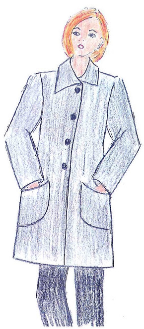 Car Coat 014 Pattern - Elements