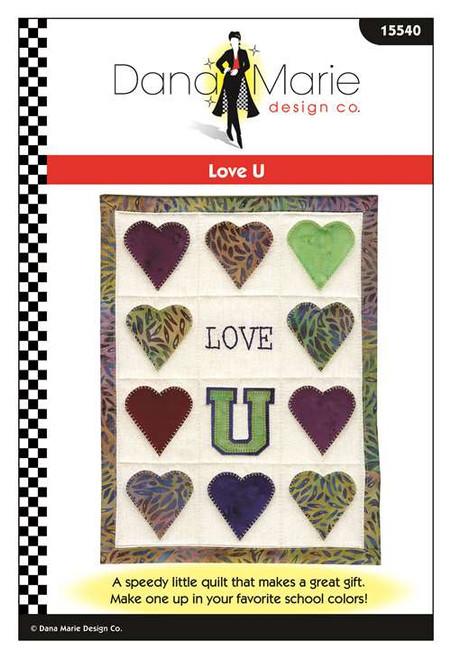 Love U Mini Quilt Pattern