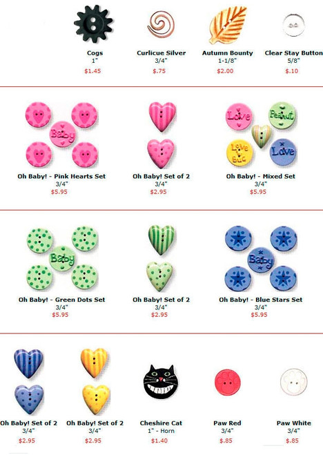 Buttons - Novelty - Mixed Materials