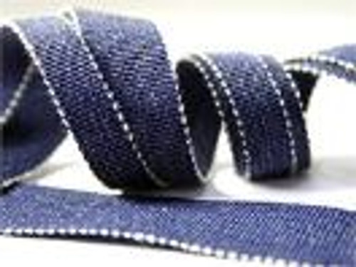 Denim Petersham Ribbon