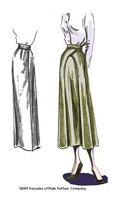 1940s Arches Skirt - Decades of Style