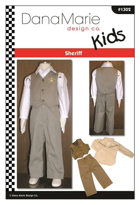 Sheriff Pattern - Kids