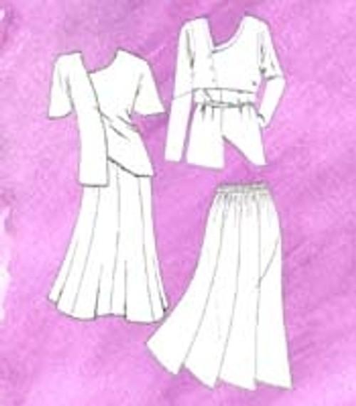 Asymmetrical Tunic, Vest & Skirt - LJ Designs