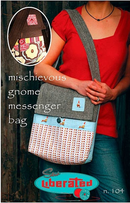 Mischievous Gnome Messenger Bag - Sew Liberated