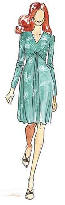 Pleat Front Dress - Christine Jonson