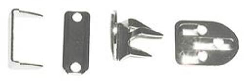 No Sew Hook & Bar Trouser/Skirt - Nickel (4 sets)