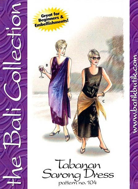 Tabanan Sarong Dress Pattern - Bali Collection
