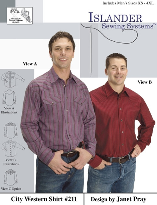City Western Shirt - Islander Sewing Systems