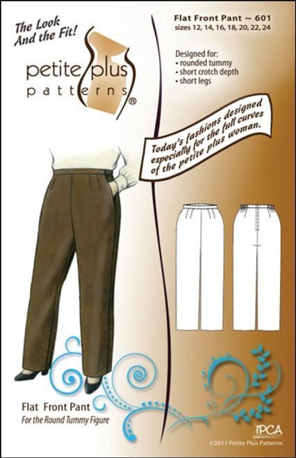Flat Front Pant - Petite Plus