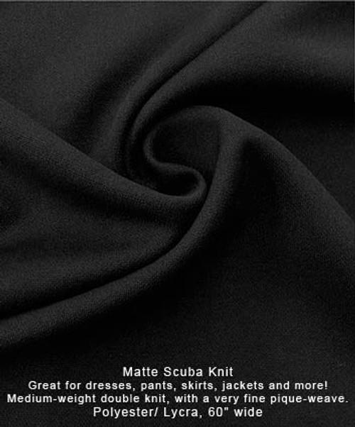 Lightweight Scuba Knit - Black - Polyester/Lycra