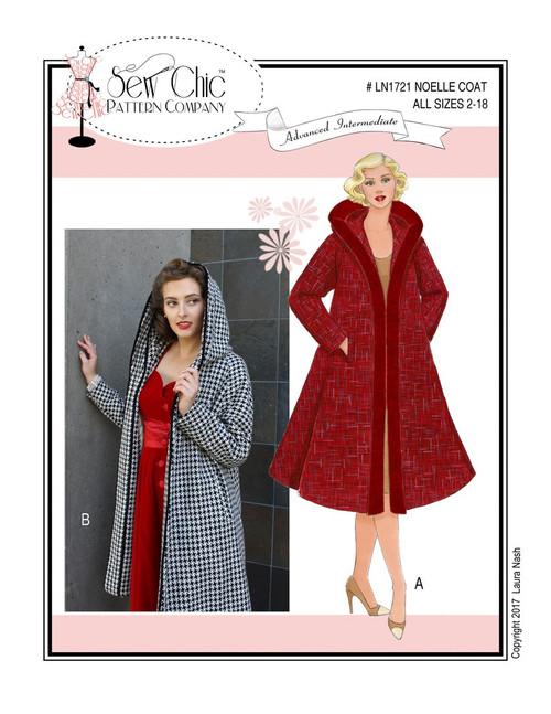 Noelle Coat - Sew Chic Pattern Company