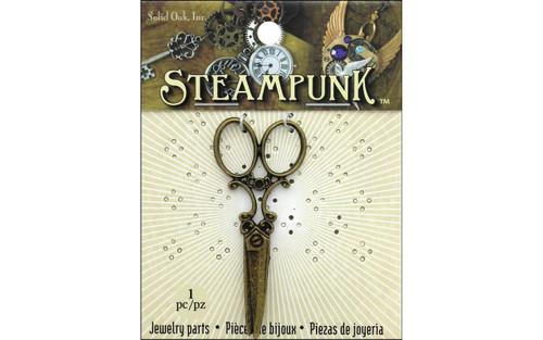 Steampunk Large Scissors Charm 1 pc