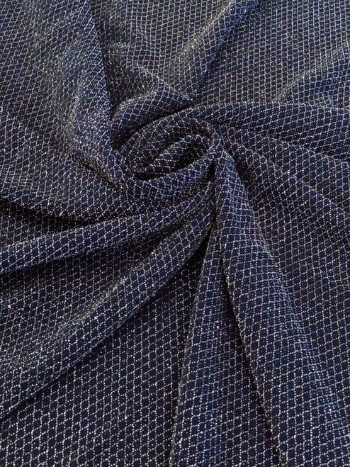 "Diamond Weave Metallic Knit – 58"""