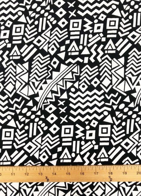 Tribal Print Challis - 100% Rayon