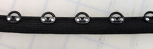 Rhinestone Eye Tape - Black Tape-Crystal Stone - 1/2""