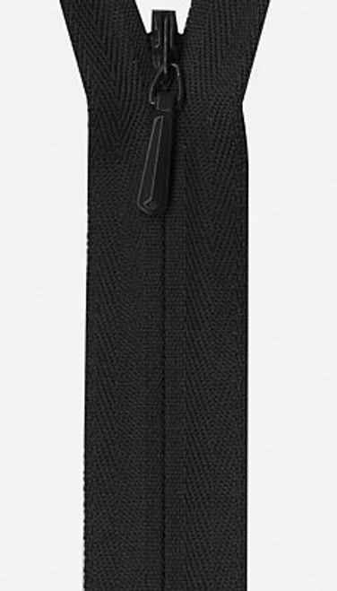 "Invisible Zipper - 22"" Black"