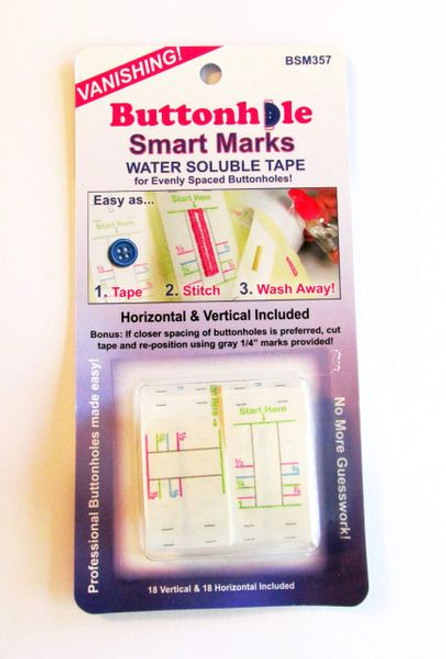 Buttonhole Smart Marks - Water Soluble