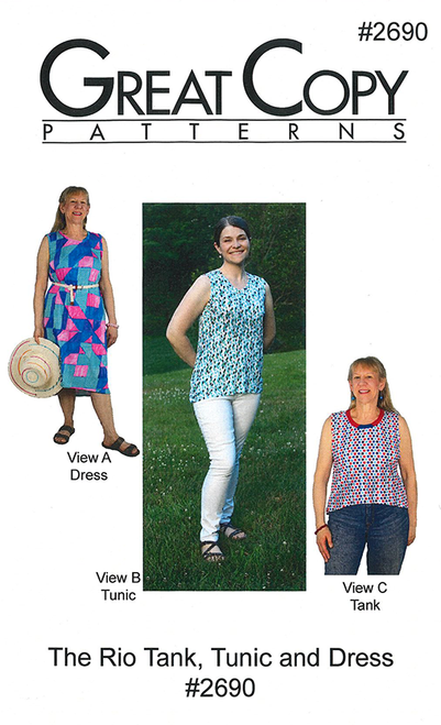 Rio Tank, Tunic and Dress - Great Copy Patterns