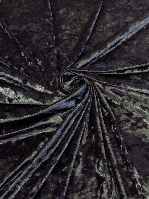 """Black Crushed Velvet Knit - 60"""""""