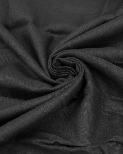 "Black Linen Blend - 52"""
