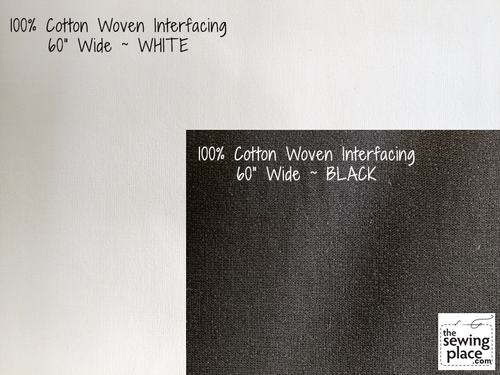 """100% Cotton Woven Fusible Interfacing – 60"""" Wide"""