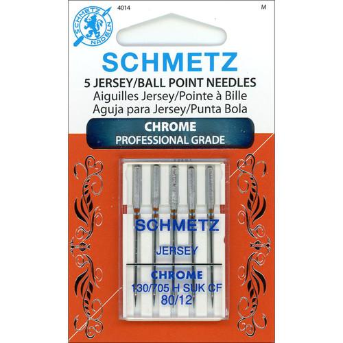 Schmetz Chrome Ball Point Jersey Machine Needles for Stretch Fabrics