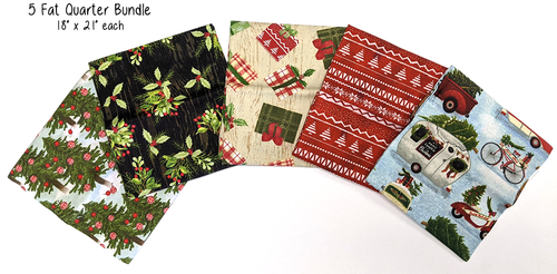 Early Christmas - 100% Cotton - Prints and Fat Quarter Bundle