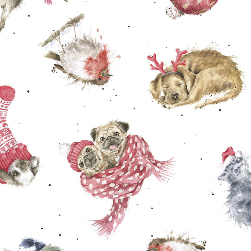 Warm Wishes Holiday Prints - 100% Cotton