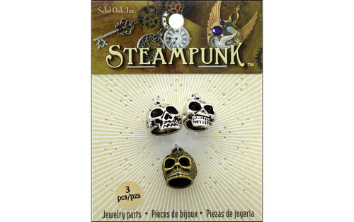 Steampunk Skulls With Hanging Loops - 3 pcs.