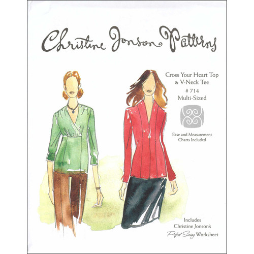 Cross Your Heart & V-Neck Tee - Christine Jonson