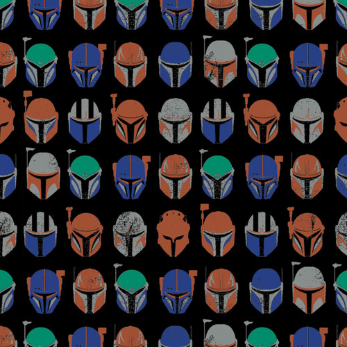 "Star Wars Mandalorian Assorted Helmets - Fleece - 58""/60"""