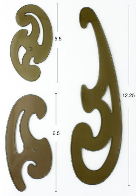French Curved Rulers - 3pcs