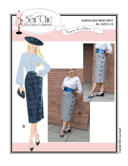 Side Wrap Skirt  - Sew Chic