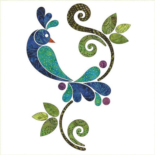 Peacock Batik Appliqué