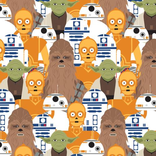 """Star Wars Portrait Stacked - 100% Cotton 44/45"""""""