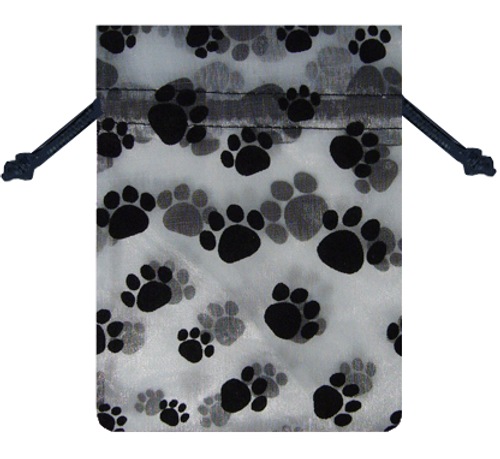 Paw Print Sheer Gift Bag