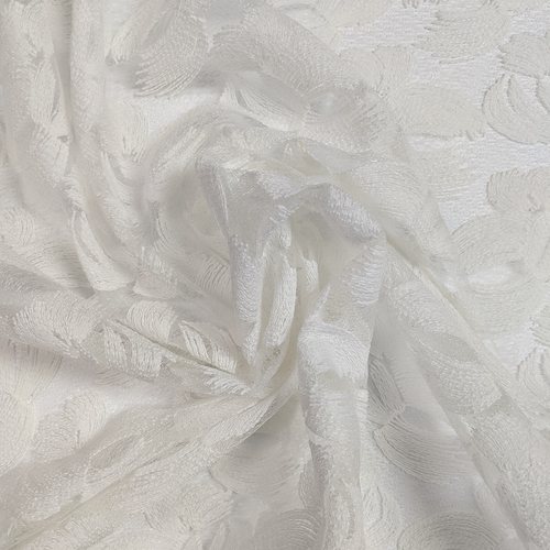 "Fresh Pearl Scalloped Lace 46"" Elie Tahari"