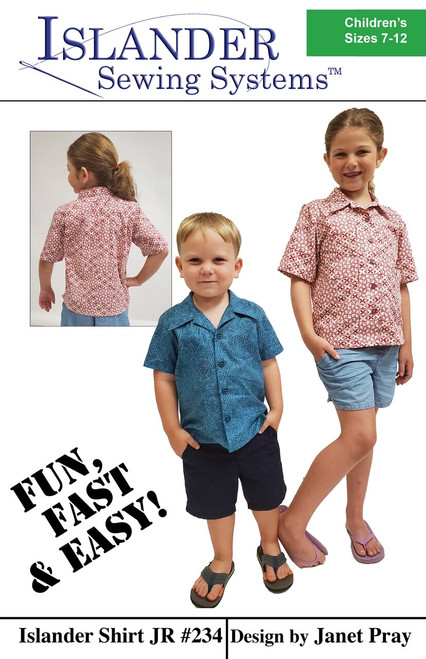 Islander Shirt Jr - Sizes 7 - 12 - Islander Sewing Systems