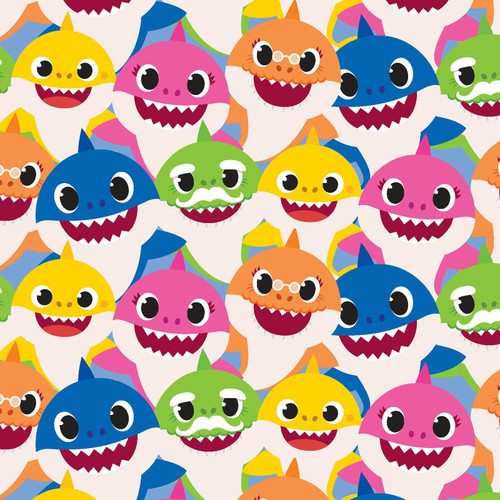 Baby Shark - 100% Cotton - 44/45""